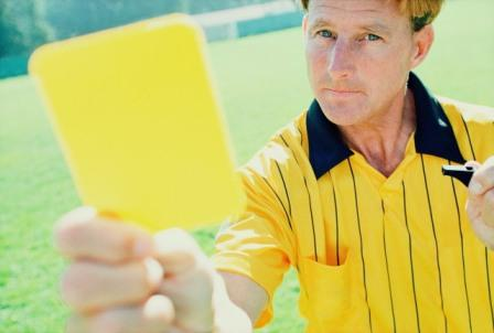 cartao amarelo
