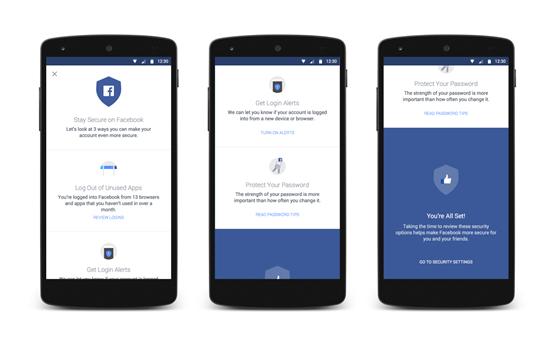 facebook segurança apps